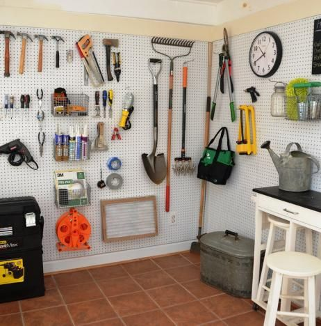 container store, garage organization, peg board, garden organizing, storage ideas