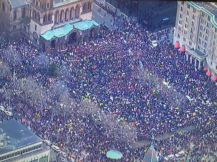 Protest against Trump's immigration order in Boston
