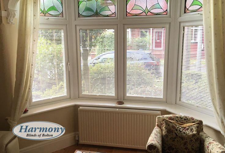 Café Style Perfect Fit Blinds in a bay window