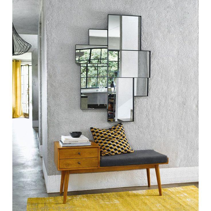 Flurbank im Vintage-Stil mit 2 Schubladen aus Mangoholz L.120cm Flynn | Maisons du Monde