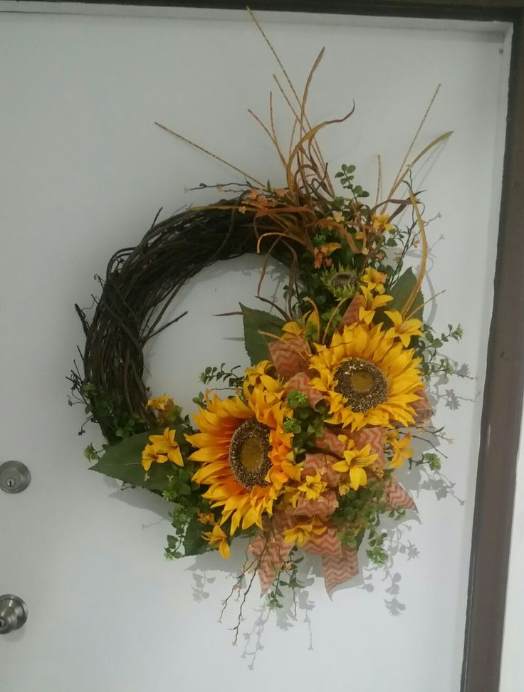 Giant sunflowers and chevron