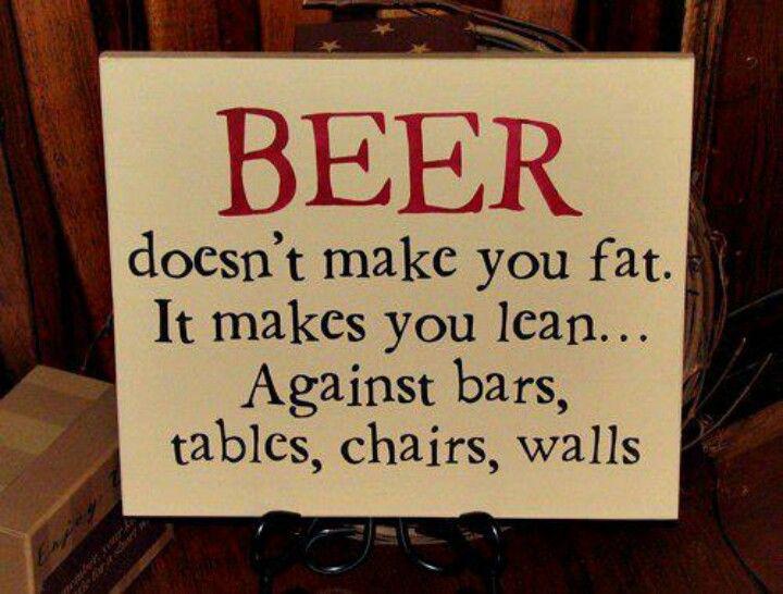 Beer makes you lean!