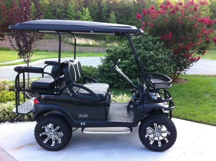 golf cart, club car, Triad Golf Carts, customize, custom golf cart, wheels/tires, Club Car Precedent, golf cart battery, golf cart batteries - Gallery of CELEBRITY Custom Carts