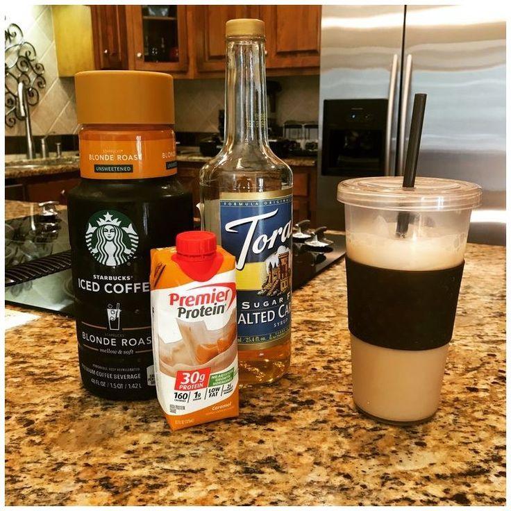 Instagram carmel coffee protein shake salted carmel