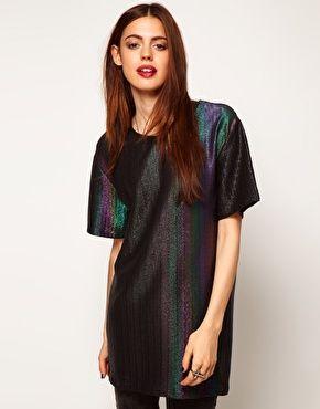 ASOS T-Shirt in Rainbow Hologram