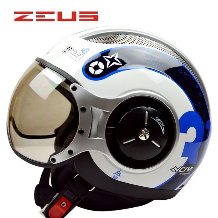 MOMO Style ZEUS 3/4 Open Face Vintage Motorcycle Helmet 218C Moto Casque Casco motocicleta Capacete Unisex Pilot helmets