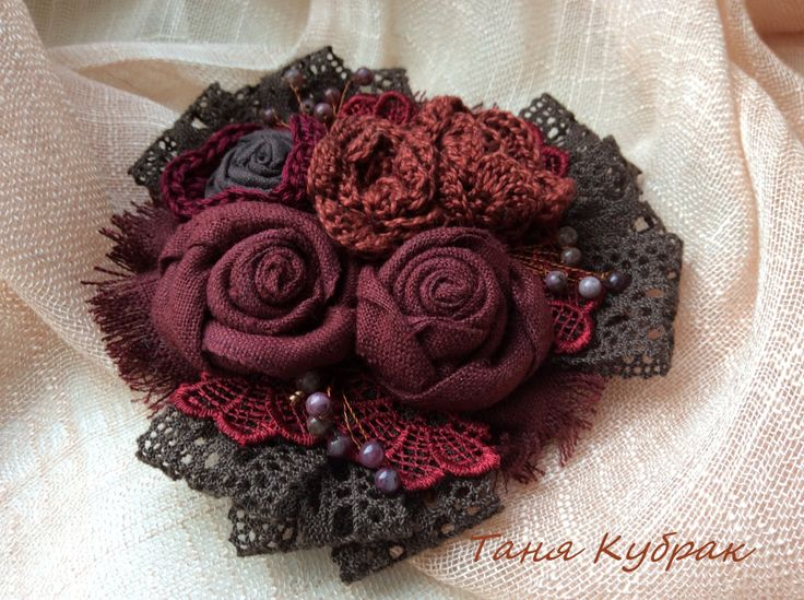 Brooch Сherry in chocolate by squerrelbench on Etsy