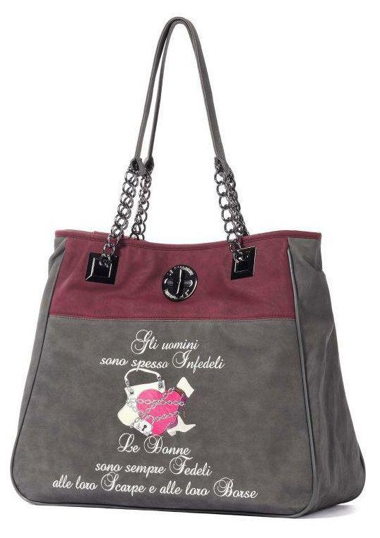 Le Pandorine - Borse - Shopping - Donna - CLASSIC2TONESCuoreGr - FASHIONQUEEN.NET    #Le Pandorine #Cuore #Fashionqueen
