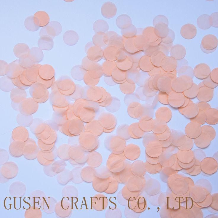 1500pcs 1inch (2.5cm) Round Multicolor peach  Paper Confetti Party Wedding Table Decoration birthday party Decorative Supplies