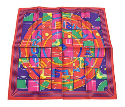Authentic HERMES Petit Scarf Gavroche 45 Sport 100% Silk F/S from Japan EMS