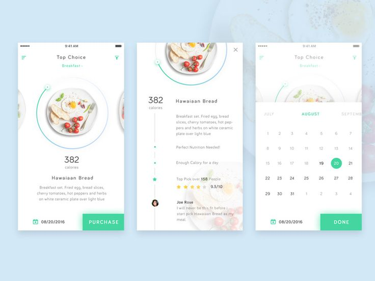 Health Food App Exploration by Dany Rizky #Design Popular #Dribbble #shots