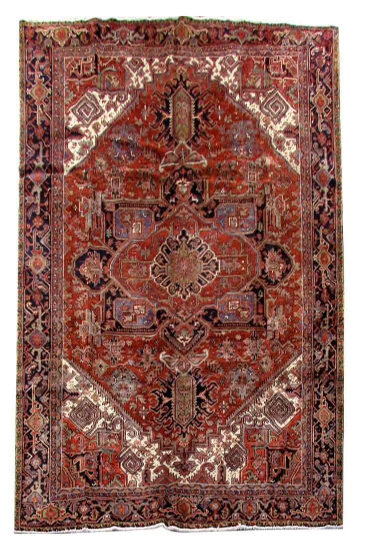 Hard-Wearing Carpet Artistic Weavers Made by hand Rug 9x13 Persian Heriz
