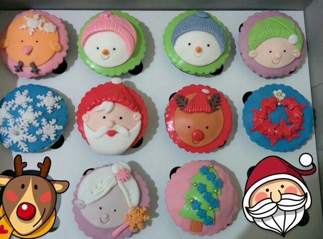 Xmast cupcakes