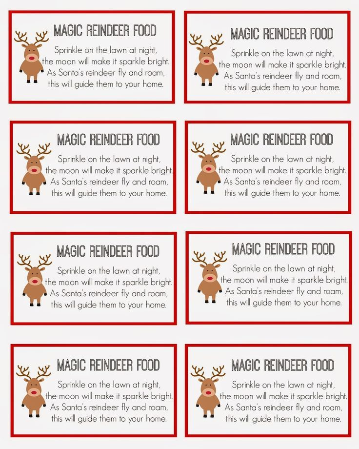 picture about Reindeer Food Poem Printable called reindeer meals labels template receive 20 reindeer foods Options upon