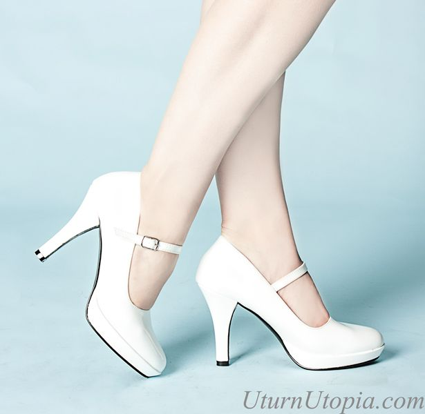 White Mary Jane Shoes /Rockabilly/Retro/Wedding [CONT50/W] - $39.99 : Uturn Utopia, Retro footwear, Rockabilly Shoes, Vintage Inspired Clothing, jewelry, Steampunk