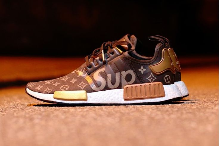 What a Supreme x Louis Vuitton x adidas NMD R1 Collaboration Might Look Like Footwear Three Stripes Germany French Luxury House Skateboarding