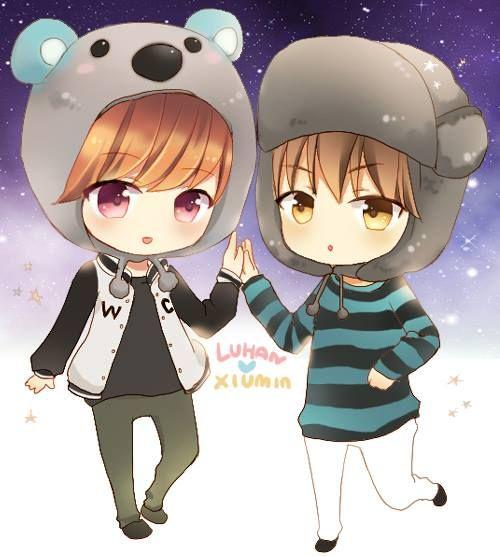 Xiuhan Fanart Xiuhan fanart ~cute♥...