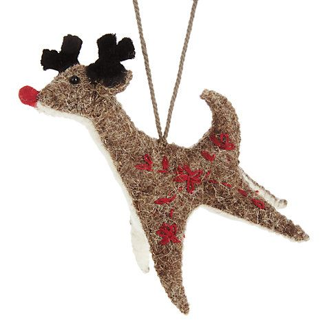 Buy Fiona Walker Hanging Brown Reindeer Online at johnlewis.com