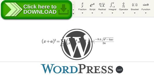 [ThemeForest]Free nulled download Wordpress Formula Editor Plugin from http://zippyfile.download/f.php?id=58470 Tags: ecommerce, equation, equation editor, formula, formula editor, latex, latex editor, tinymce, wordpress plugin