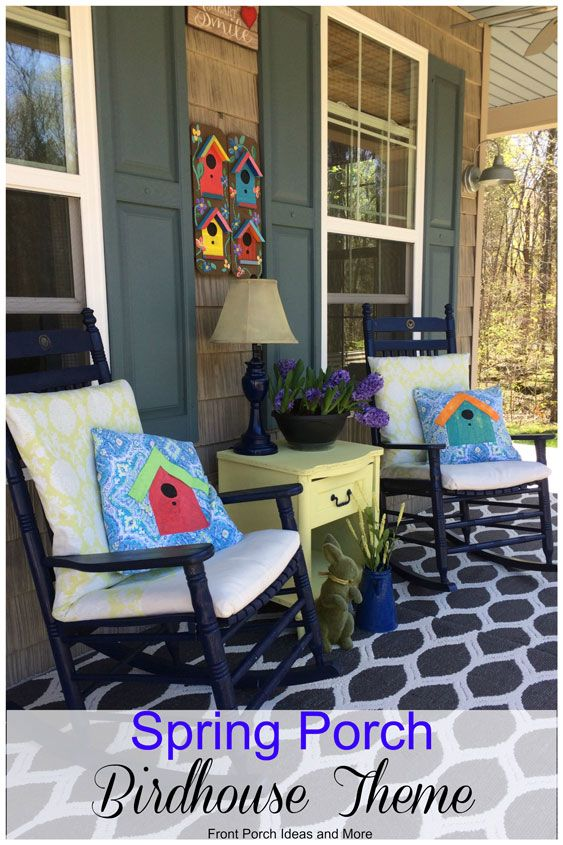 Spring Decorating Ideas Birdhouse Theme. Our Ideas For Birdhouse Pillow  Toppers And Wall Art Are