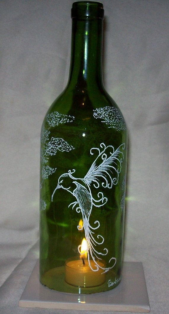 Do make wine bottle lights could do this to extra wine for Wine bottle light ideas