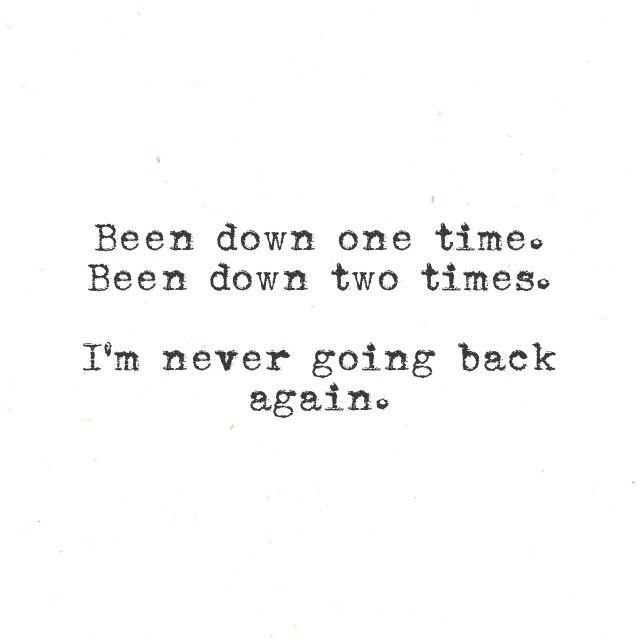 Go back lyrics