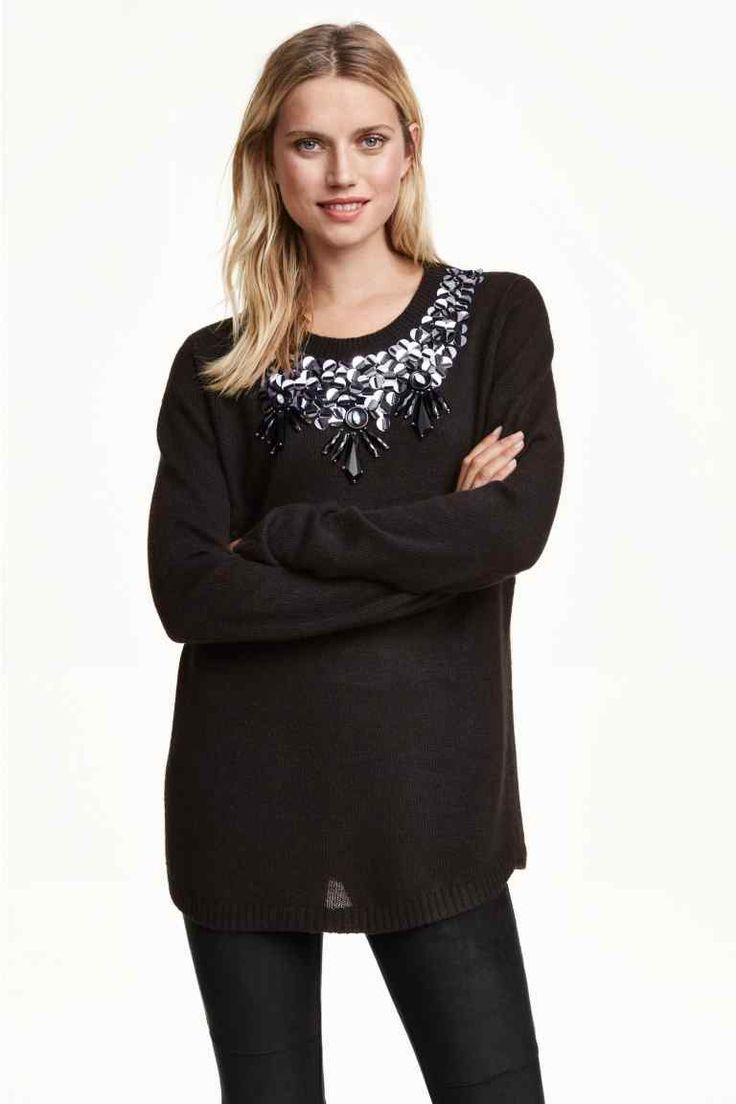 Jersey con bordado lentejuelas | H&M