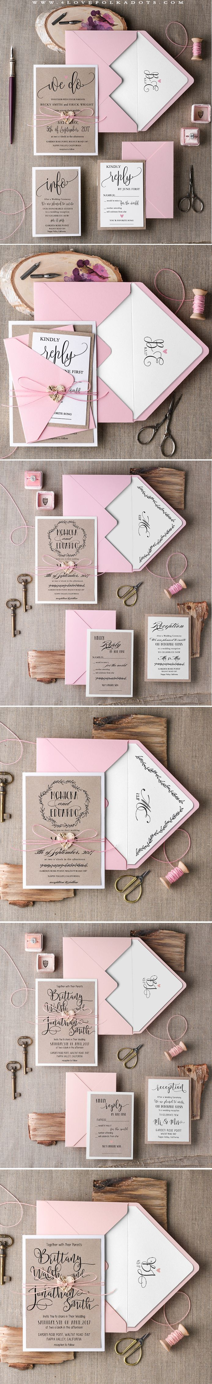 Pink & Eco Calligraphy Wedding Invitations, which are still on SALE…