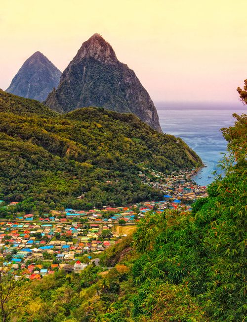 Soufriere, St. Lucia Caribbean Islands. Look the Pitons! Been there done that!