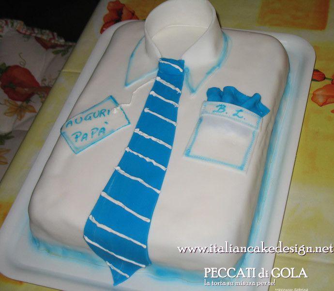 Torta camicia con crema allo spumante per  la #festadelpapa