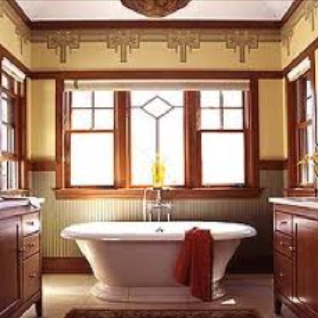1176 best images about craftsman style bungalows - Arts and crafts style bathroom design ...