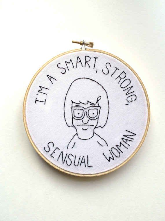 Inspirational embroidery for geeks: For getting in touch with your feminine side.