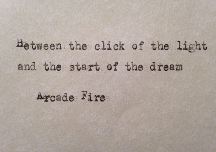 Arcade Fire lyrics No Cars Go hand typed on antique typewriter