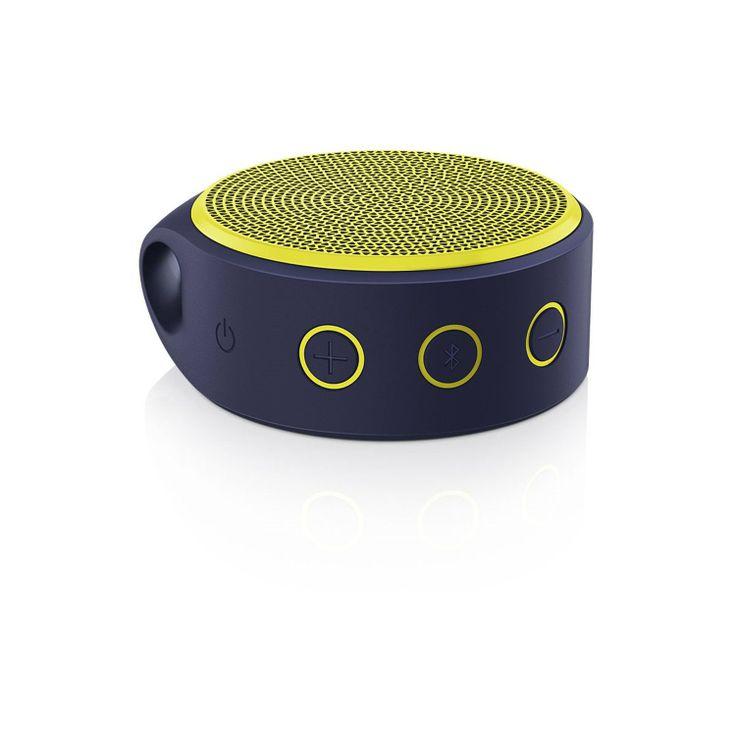 Logitech 罗技 X100 Mobile Speaker无线便携音箱带麦克风 炫彩黄-数码影音-亚马逊中国