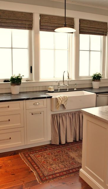 for the love of a house: the kitchen: details-Cabinet, trim and ceiling color is Benjamin Moore White Dove OC-17.