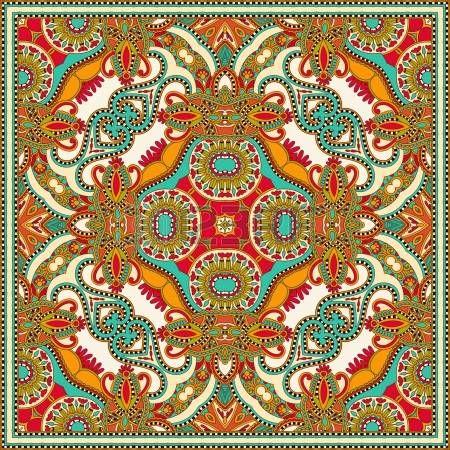 Traditionnel ornement floral paisley bandana. Vous pouvez utiliser ce mod�le dans la conception de tapis, ch�le, oreiller, coussin photo