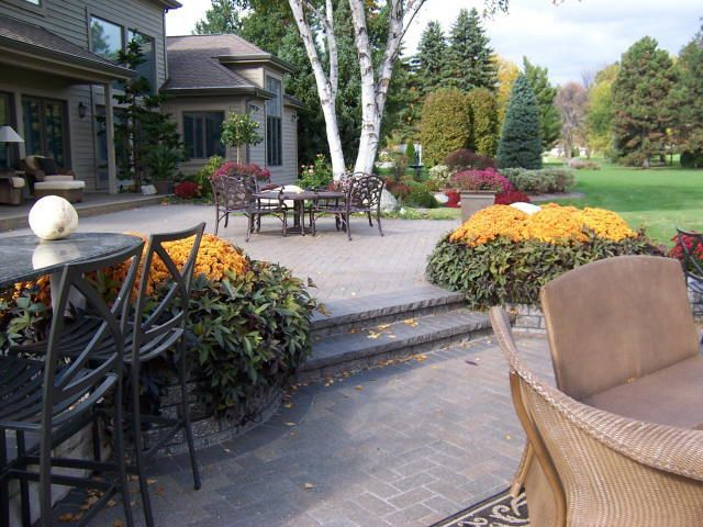 multi level patio via designscapes inc - Multi Level Patio Designs