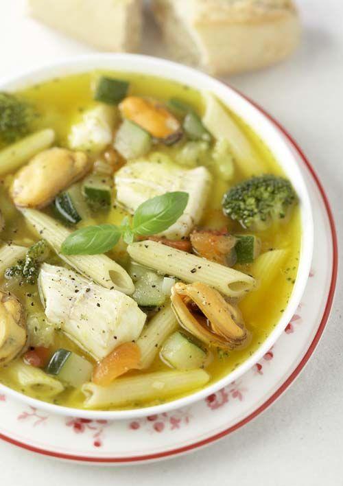 Soupe de poisson italienne au cabillaud et aux moules | Colruyt