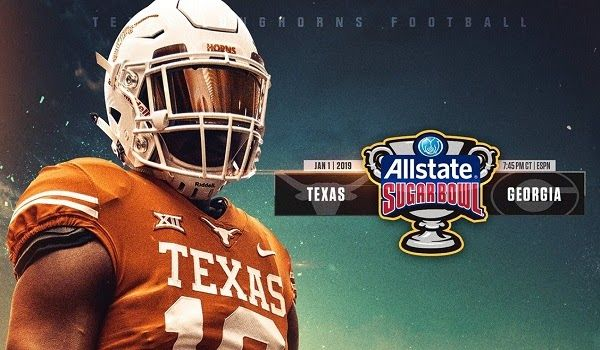 Watch Ncaa Sugar Bowl 2019 Live Football Georgia Bulldogs Vs Texas Longhorns Live Stream