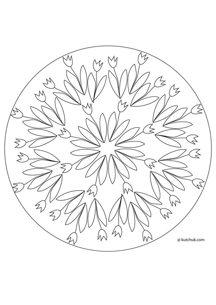 Coloriages de Pâques et de printemps, mandalas oeufs, tulipes, roses, lapins, fleurs