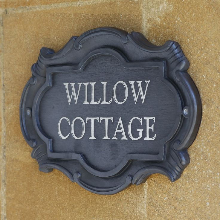 House Name Plate  AAH012  £49  | http://www.downtonabbeyathome.com