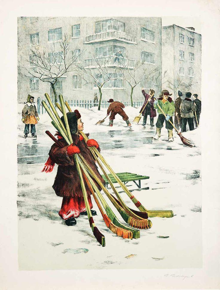 Команда нашего двора.  Автор: Дмитриев Д.П.  Год: 1950-е гг.
