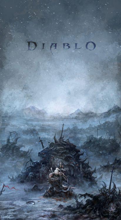 """Barbaric Barbarian"", Diablo fan art by ChaoyuanXu"