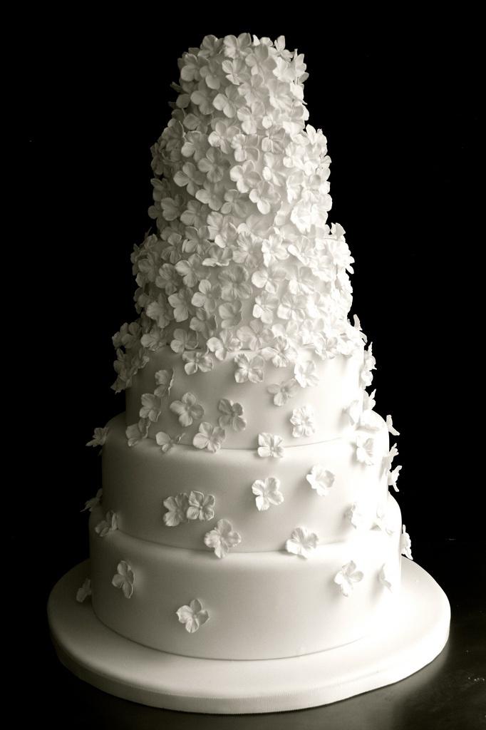 White wedding cake - Sugar Plum Cake Shop