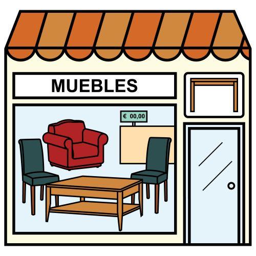 Pictogramas ARASAAC - Tienda de muebles.