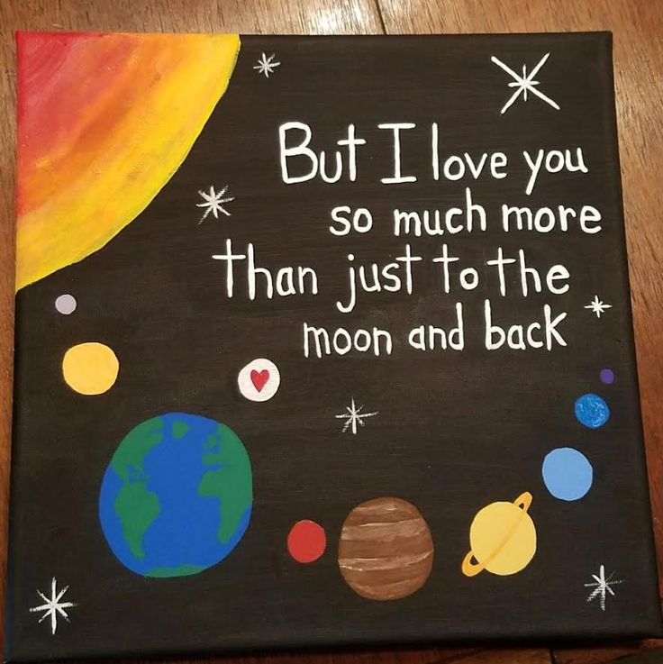 But I love you so much more than just to the moon and back canvas for boyfriend. Super Cute!