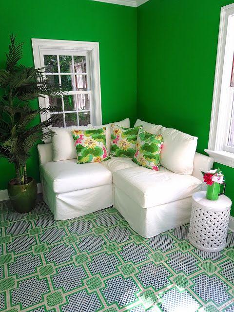 COCOCOZY: AM'S PRETTY LITTLE GREEN ROOM - EAST HAMPTON DECOR #MithStudio