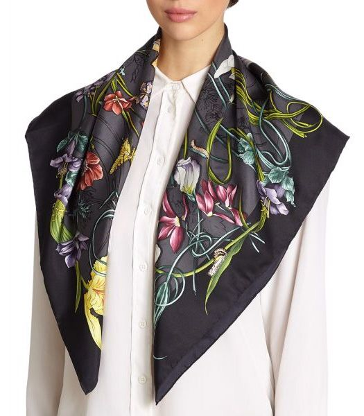 Cashmere Silk Scarf - stop and smell the roses by VIDA VIDA ZfHalCh
