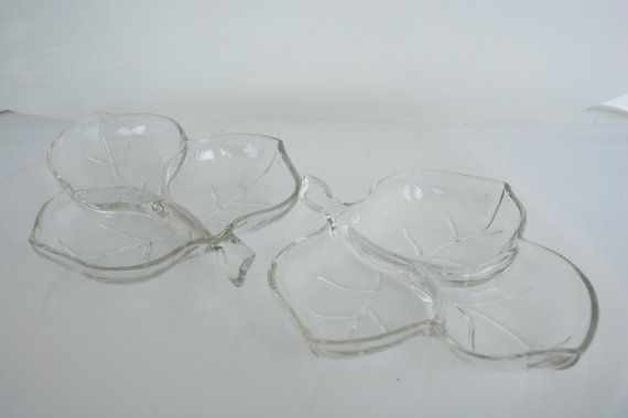 Three Leaf Relish/Condiment dishes set of two by colonialcrafts, $15.00