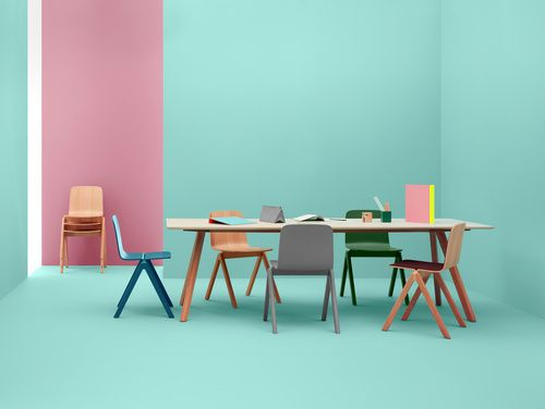Copenhague chairs and table by hay and Ronan & Erwan Bouroullec